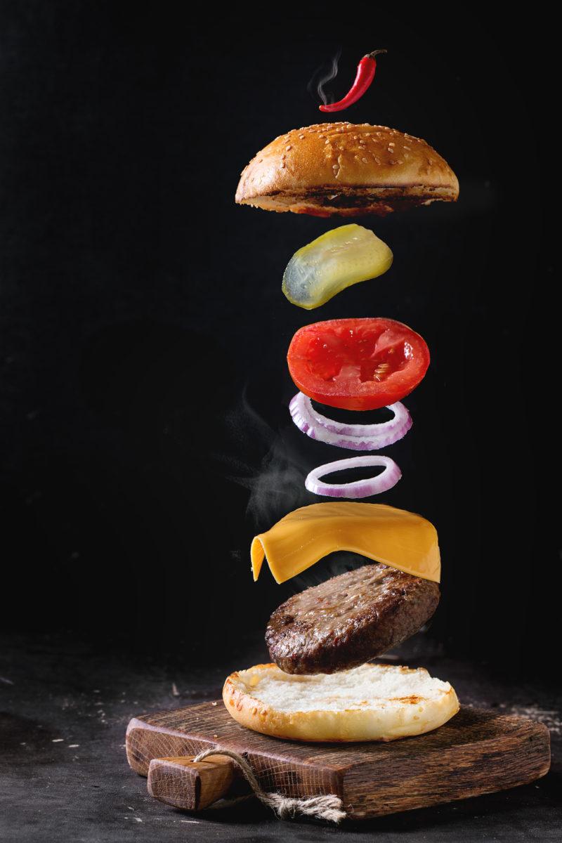 Flying burger