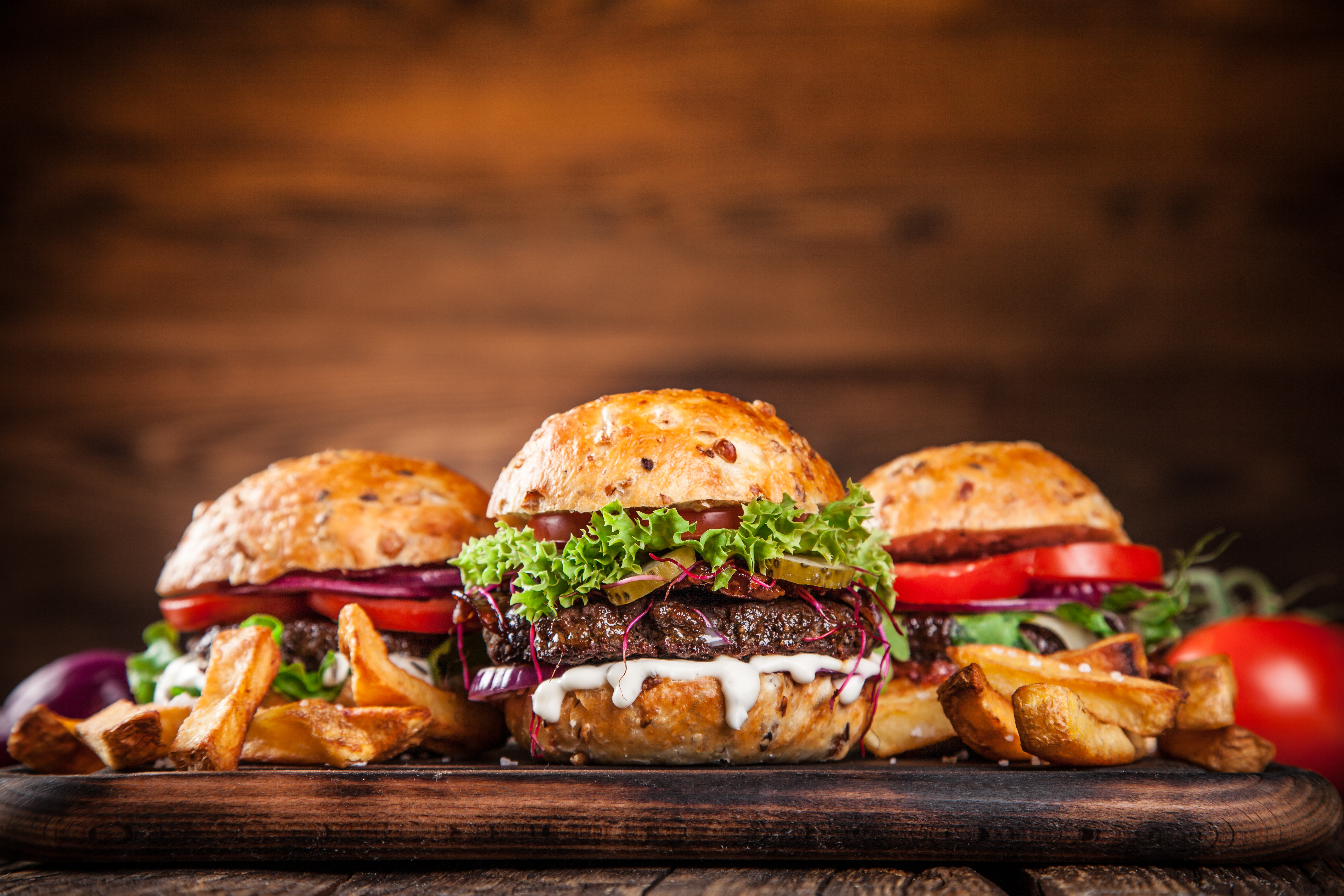 Close-up of home made burgers