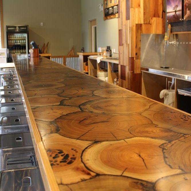 End Grain Sinker Cypress Bar Gastronomy Art Food Art