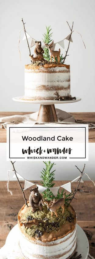 This playful woodland cake is made of flavorful Madeira cake layers and finished with…