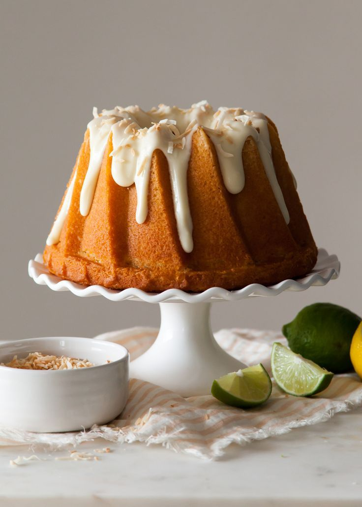 Citrus Cake with Cream Cheese and Toasted Coconut