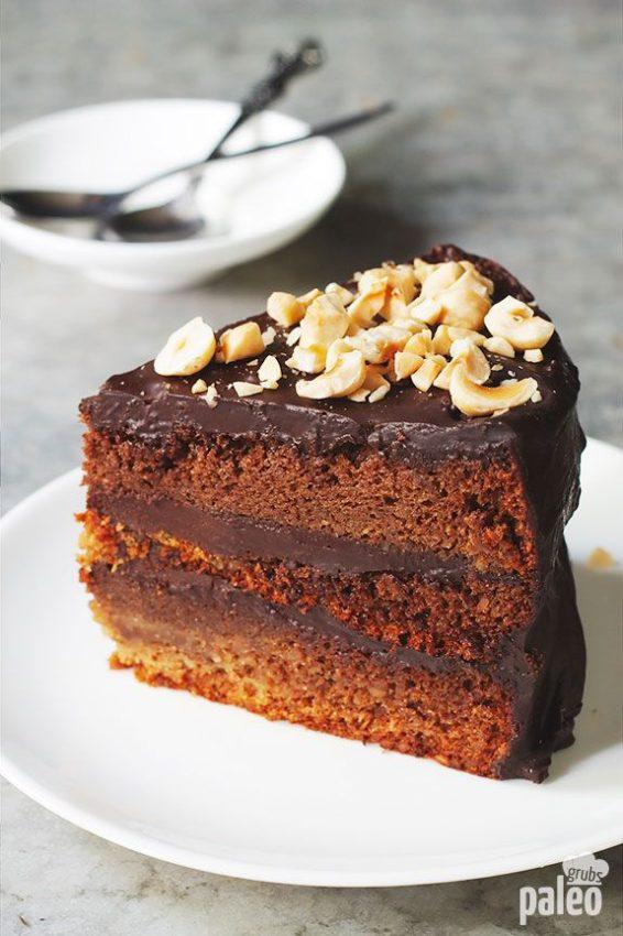 Decadent Paleo Chocolate Cake With Ganache