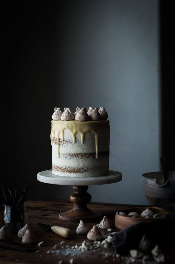 Vanilla Bean Butter Cake and White Chocolate Mousse