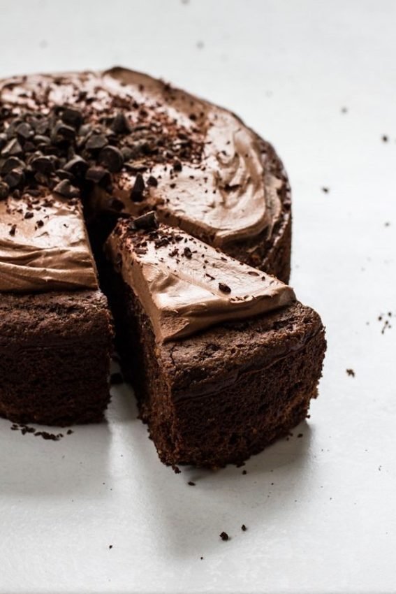 Chocolate Almond Meal Cake with Chocolate Whipped Frosting
