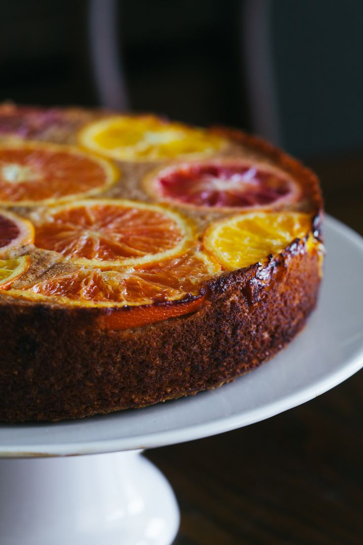 citrus upside down cake #glutenfree #vegan