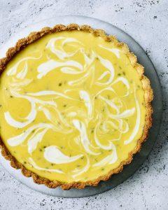 Lemon, lime and passionfruit tart