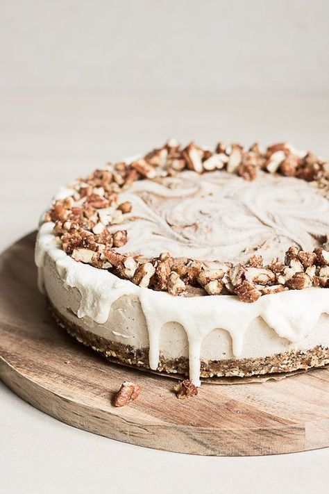 A buttery pecan oat crust, cardamom vanilla filling and a sweet cinnamon swirl topped…