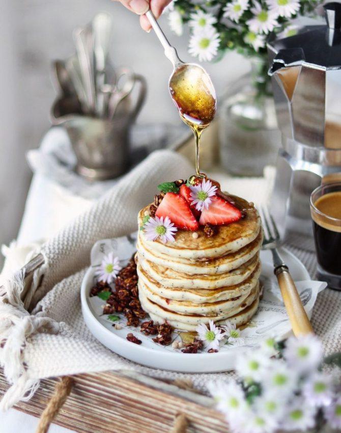 "Vegan Strawberry poppyseed pancakes #foodphotography explore Pinterest""> #foodphotography #foodstyling explore Pinterest""> #foodstyling"