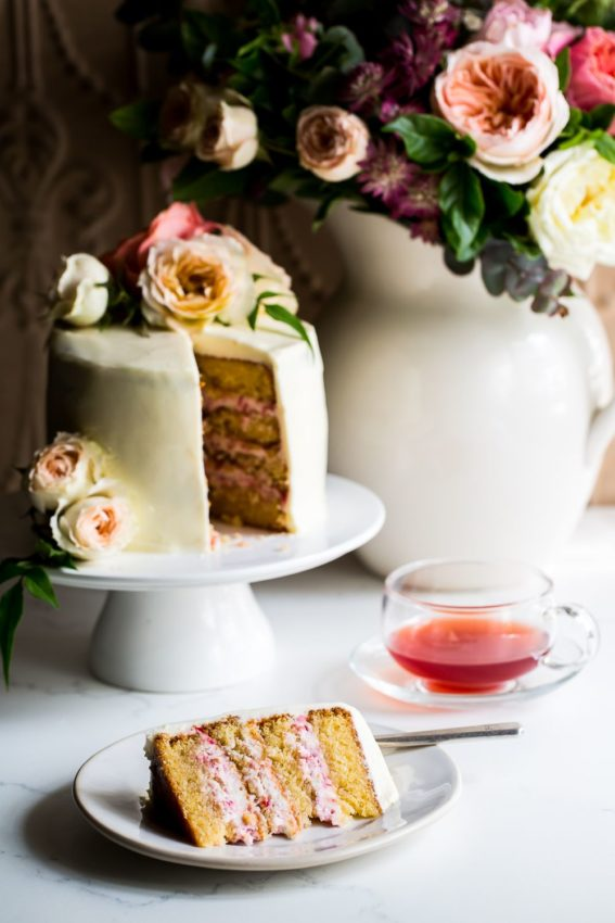 Raspberry, Rose and Mascarpone Cake