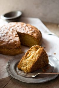 Rustic Italian apple olive oil cake