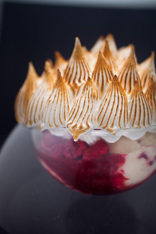 Studio shot of ice cream dessert creation by Chef Francisco Migoya