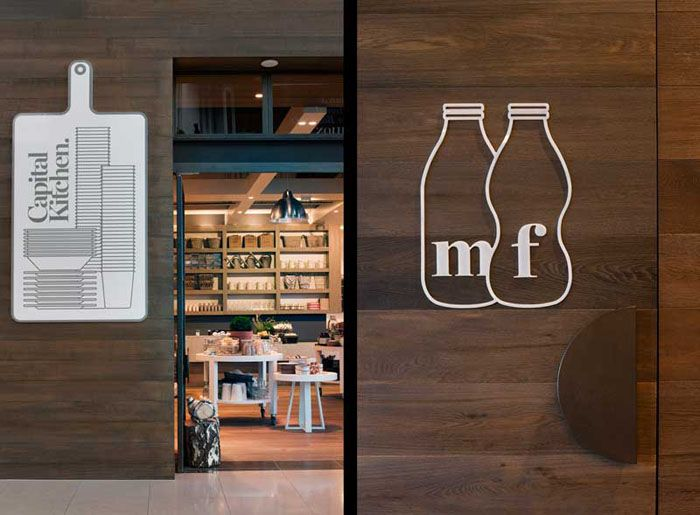 Brilliant, simple and funny. Capital Kitchen, Australia Graphic Designer: Cornwell Interior Designer: Mim Design