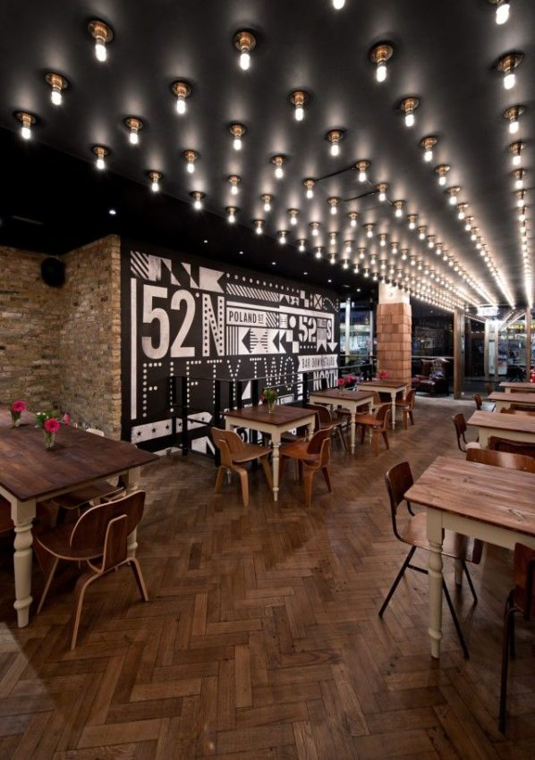 ::LIGHTING:: 52 North Bar and Kitchen in Soho London decorated by 44th Hill. A…