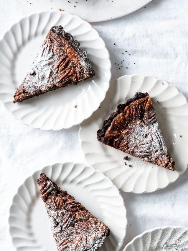 Double Chocolate Pecan Pie Tart