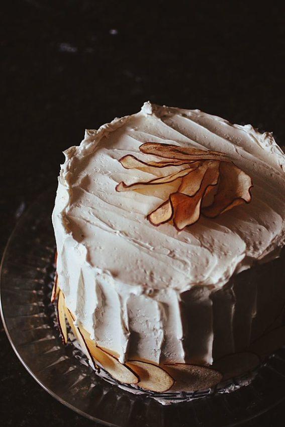 Brown Sugar, Pear and Pistachio Cake