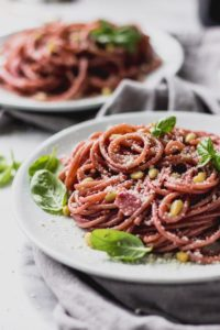 Spaghetti with red wine