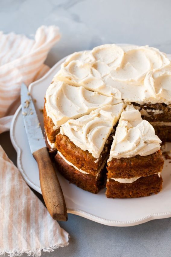 Carrot Cake with brown butter frosting