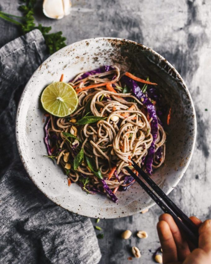 Soba Noodle Salad with Spicy Sesame Sauce – hannah chia