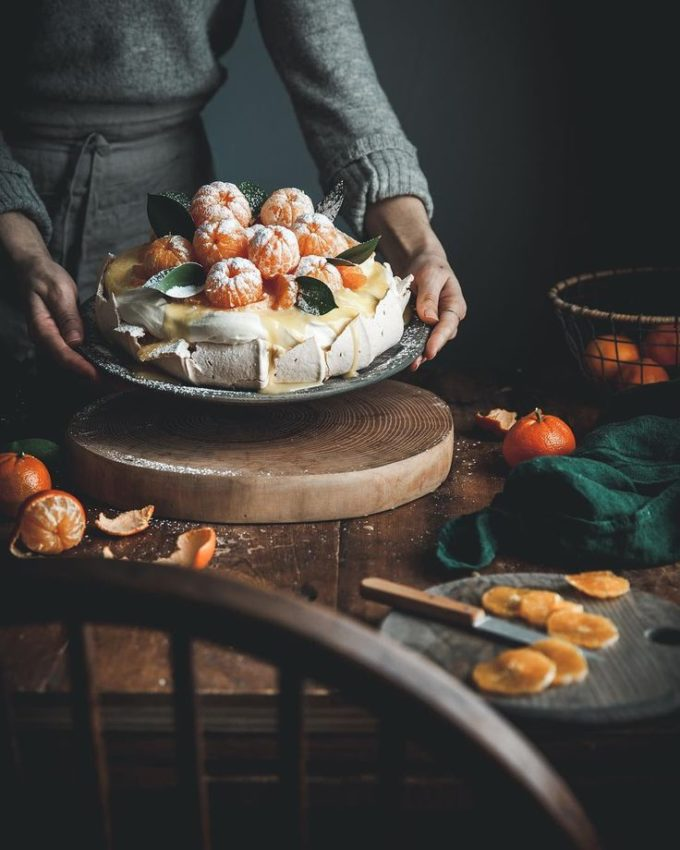 "Kayley McCabe | Food + Photo on Instagram: ""This Clementine Curd Pavlova is new…"