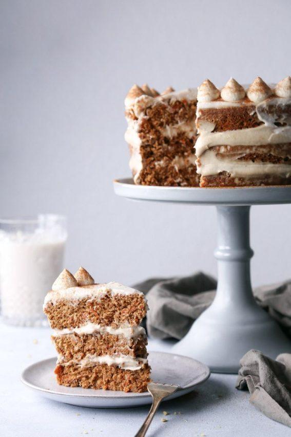 "Carrot Cake with Cashew Frosting #Vegan explore Pinterest""> #Vegan"