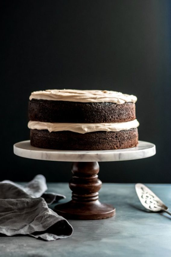Guinness Chocolate Cake with Brown Butter frosting