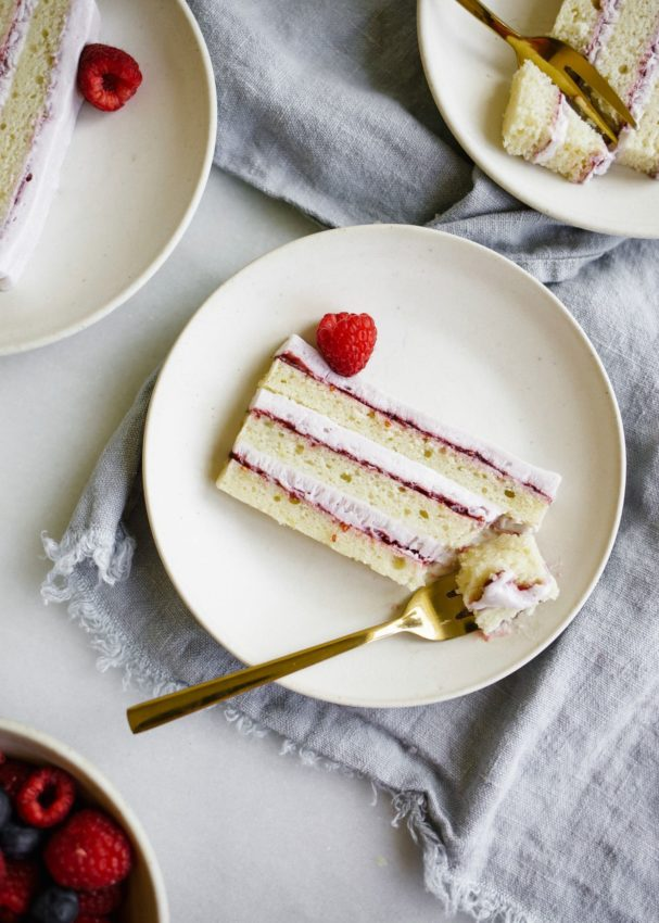 Lemon Lavender Icebox cake