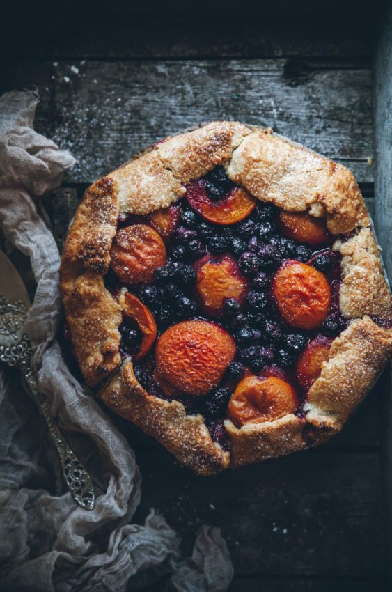 Apricot blueberry galette