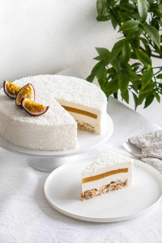 Coconut and Passionfruit cake