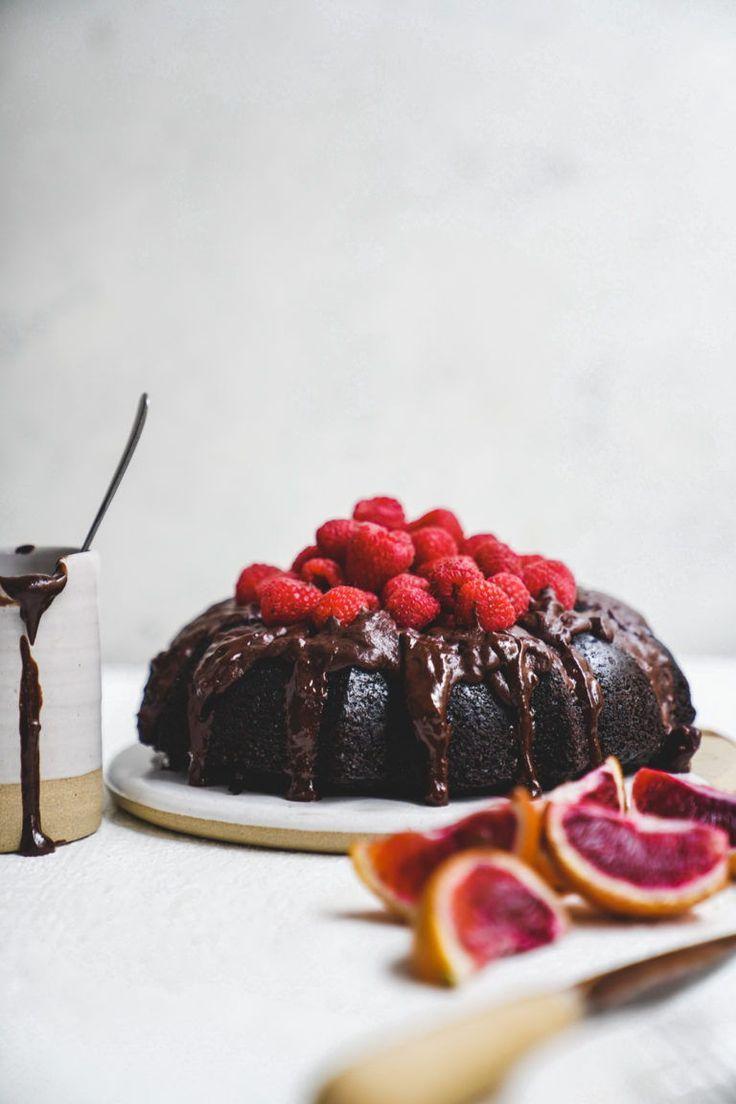 Chocolate Brownie Olive Oil Bundt Cake | FoodByMaria