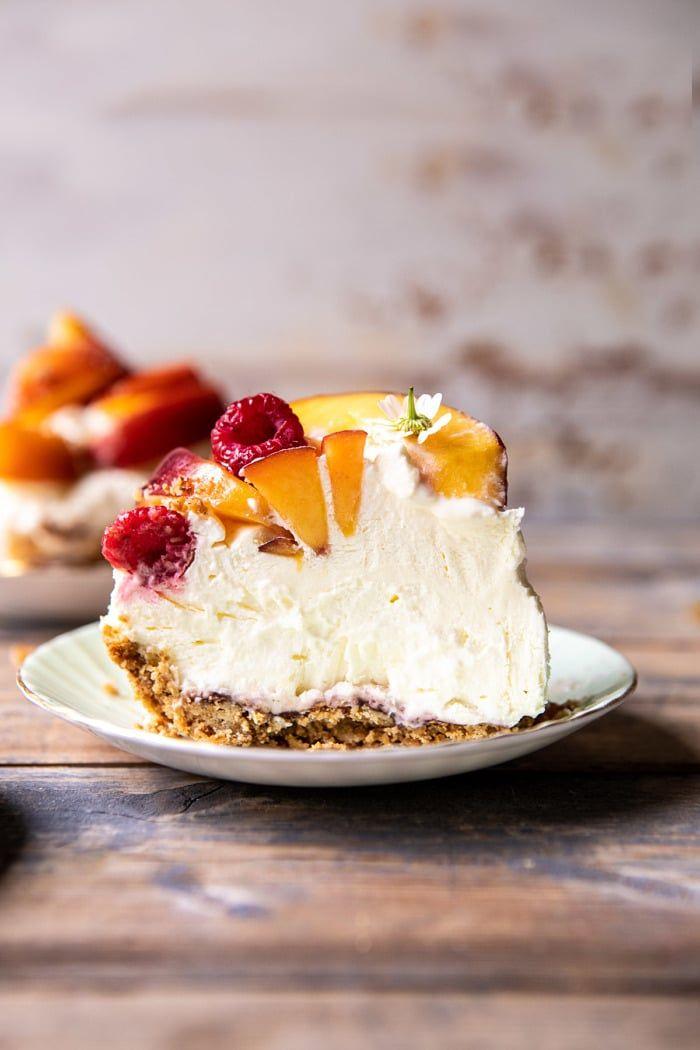 """Peaches and Cream Pretzel Pie   #pie explore Pinterest""""> #pie #peach explore Pinterest""""> #peach…"""