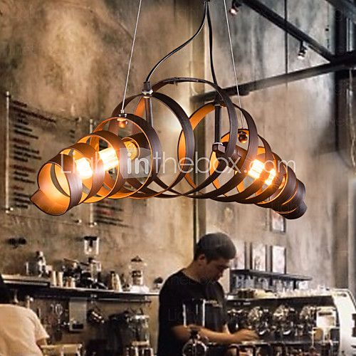 MAISHANG® Retro Bar Iron Lamp Modern Minimalist Industrial Style Chandelier – USD $