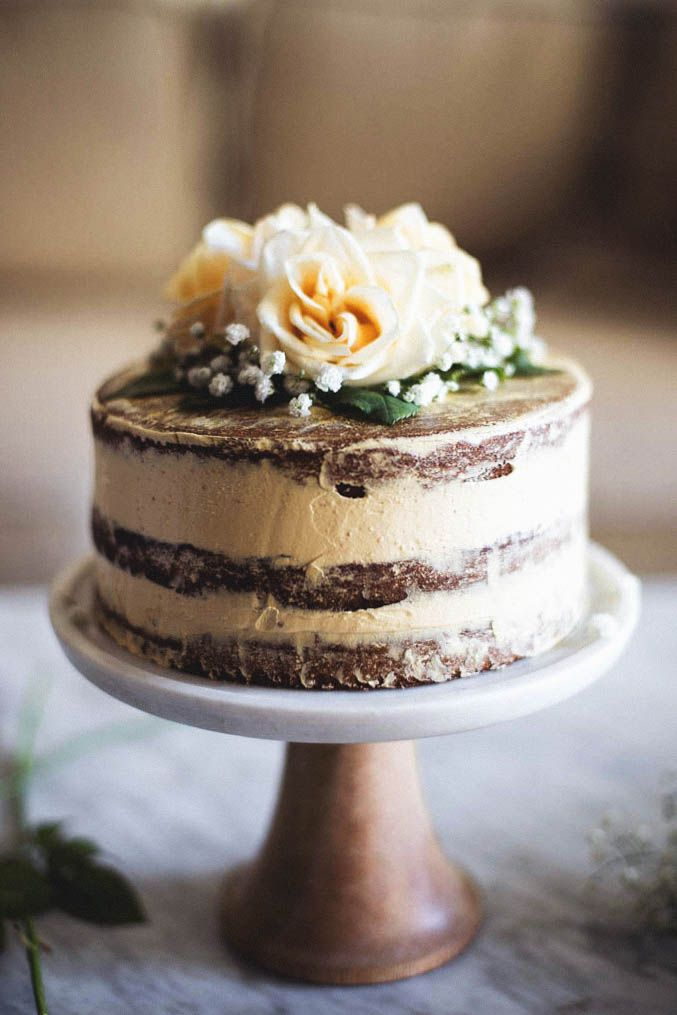 Salted Honey and Orange Blossom Naked Cake | a collaboration with Matters of the…