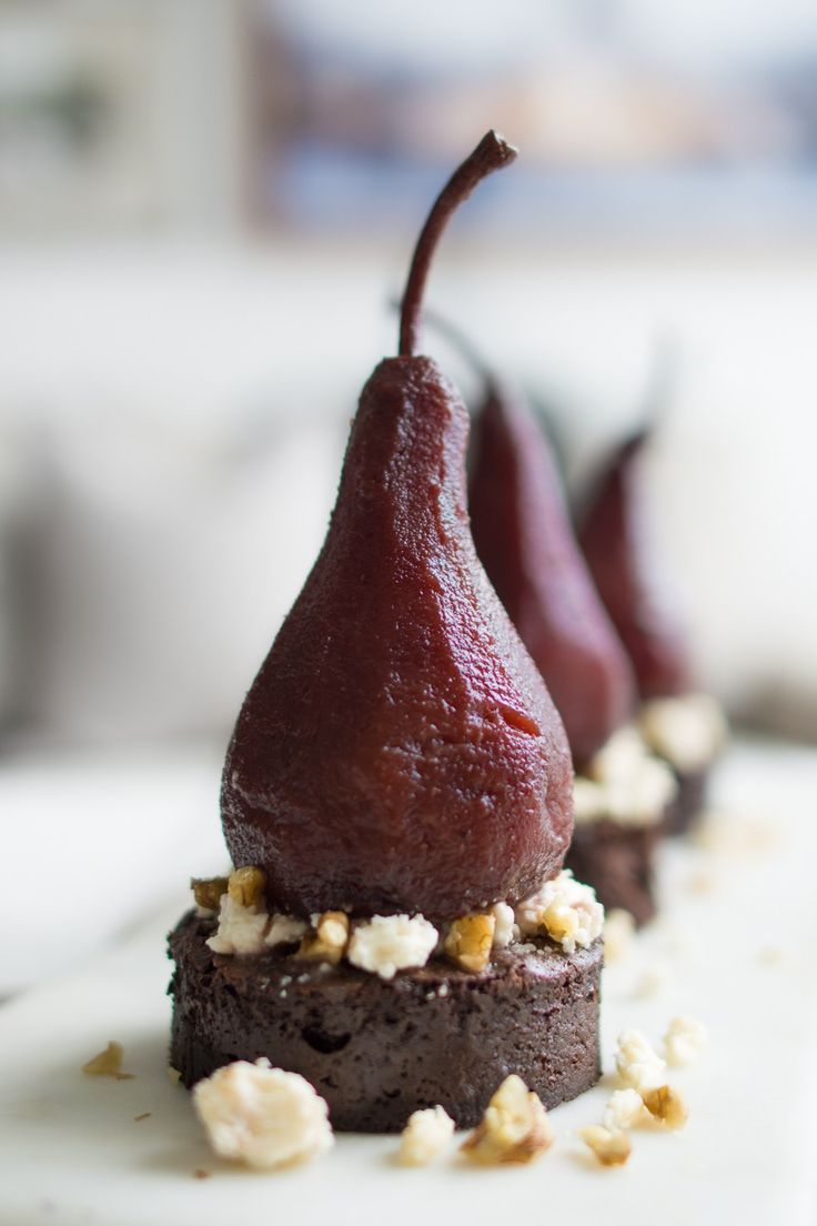Port Poached Pear Chocolate Cake