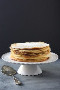 Crepe Cake with Whipped Chocolate Ganache – Completely Delicious