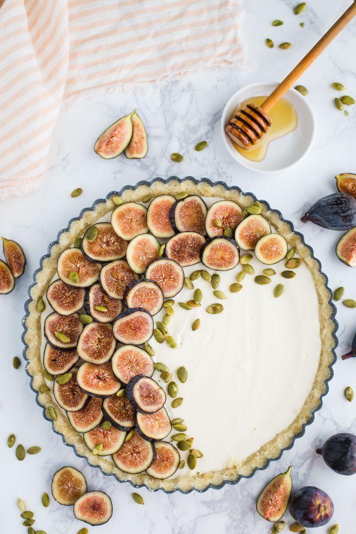 NO BAKE Fig Pie- this no bake tart is GLUTEN FREE, easy to make…