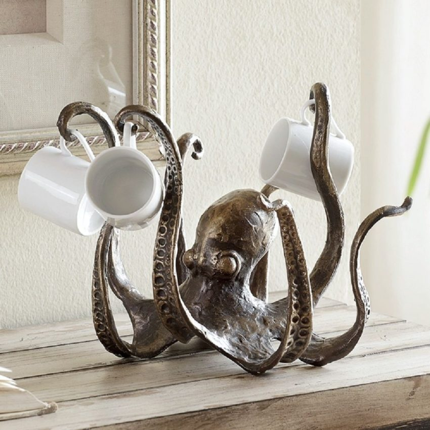 "Octopus Sculpture Jewelry Holder Small Tea Cup Coastal Nautical Sealife Figurine #NA explore Pinterest"">…"