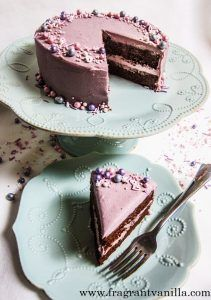 Vegan Chocolate Cake with Raspberry Frosting | Fragrant Vanilla Cake