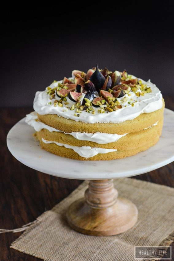 This Gluten Free Fig Cream Cake is Dairy Free and Vegetarian dessert recipe |