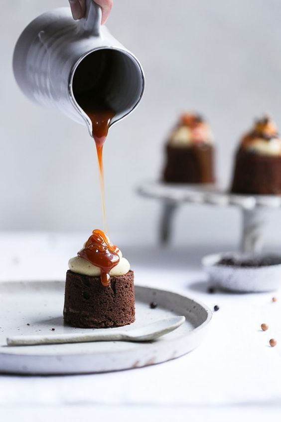 Earl Grey + Salted Caramel Brownies